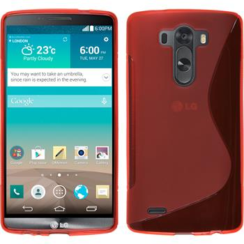 Silicone Case for LG G3 S-Style red