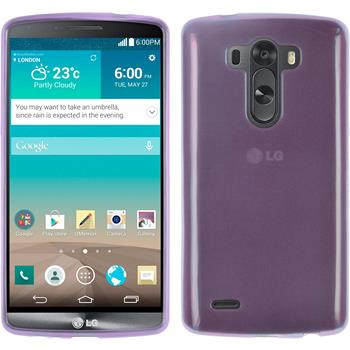 Silicone Case for LG G3 transparent purple