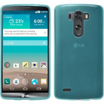 Silikonhülle für LG G3 transparent türkis