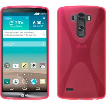 Silicone Case for LG G3 X-Style hot pink