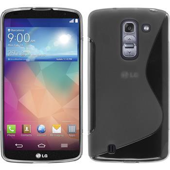 Silikonhülle für LG G Pro 2 S-Style grau