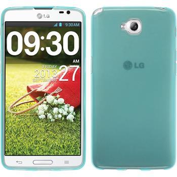 Silikonhülle für LG G Pro Lite transparent türkis
