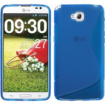Silikonhülle für LG G Pro Lite Dual S-Style blau