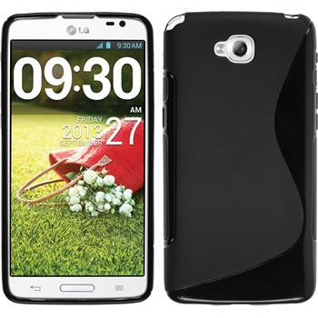 Silikon Hülle G Pro Lite Dual S-Style schwarz + 2 Schutzfolien