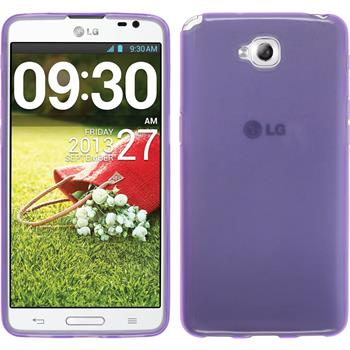 Silicone Case for LG G Pro Lite Dual transparent purple