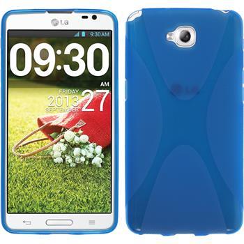 Silikon Hülle G Pro Lite Dual X-Style blau