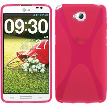 Silikon Hülle G Pro Lite Dual X-Style pink