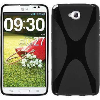 Silikon Hülle G Pro Lite Dual X-Style schwarz