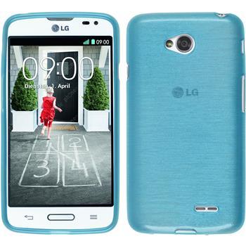 Silikon Hülle L70 brushed blau