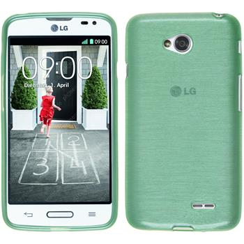 Silicone Case for LG L70 brushed green