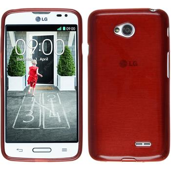 Silicone Case for LG L70 brushed red