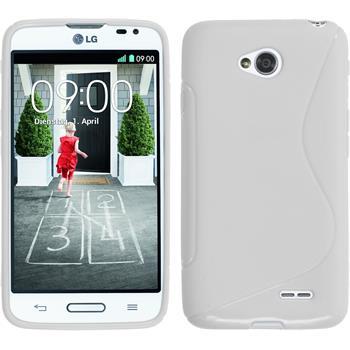 Silikonhülle für LG L70 S-Style weiß