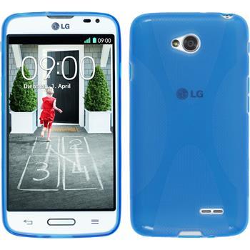Silikon Hülle L70 X-Style blau