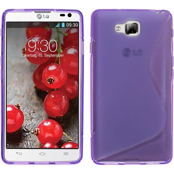 Silikonhülle für LG Optimus L9 II S-Style lila