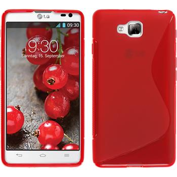 Silicone Case for LG Optimus L9 II S-Style red