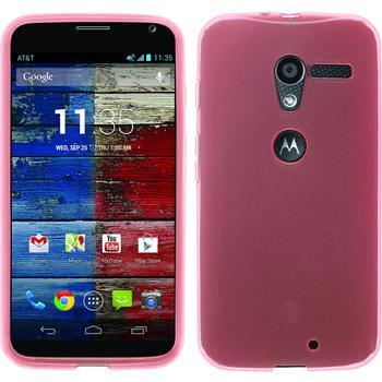 Silicone Case for Motorola Moto X transparent pink