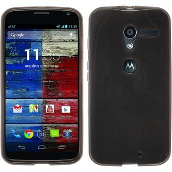 Silikonhülle für Motorola Moto X transparent schwarz