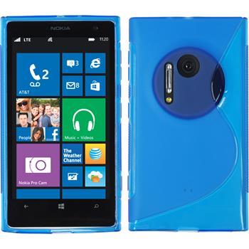 Silikon Hülle Lumia 1020 S-Style blau