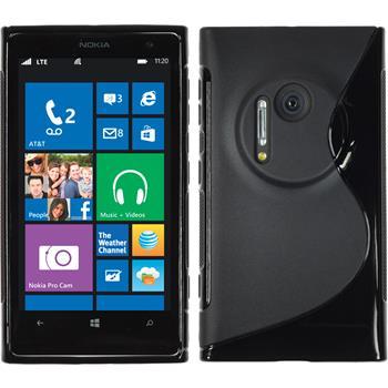 Silikonhülle für Nokia Lumia 1020 S-Style schwarz