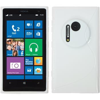 Silikon Hülle Lumia 1020 S-Style weiß