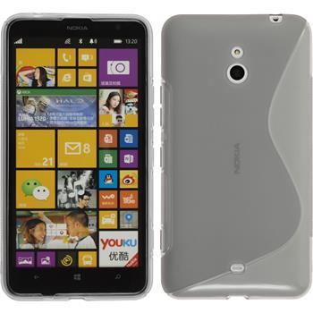 Silikon Hülle Lumia 1320 S-Style grau