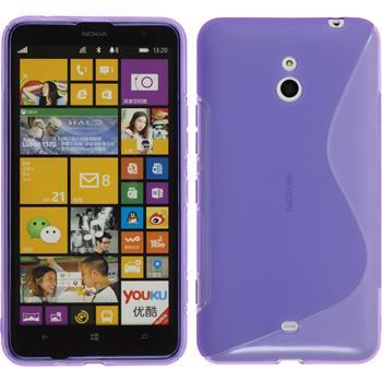 Silikonhülle für Nokia Lumia 1320 S-Style lila