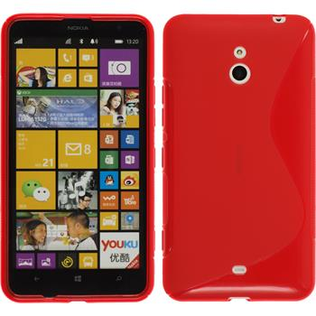 Silicone Case for Nokia Lumia 1320 S-Style red
