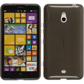 Silikon Hülle Lumia 1320 transparent schwarz