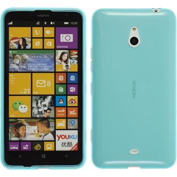 Silikonhülle für Nokia Lumia 1320 transparent türkis