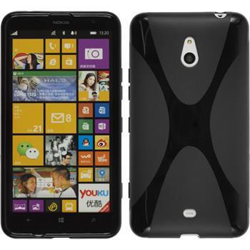 Silikon Hülle Lumia 1320 X-Style schwarz