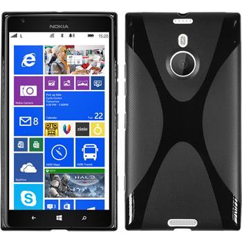 Silikon Hülle Lumia 1520 X-Style schwarz