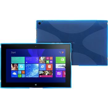 Silikonhülle für Nokia Lumia 2520 X-Style blau