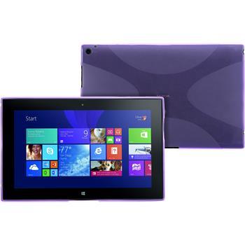 Silikon Hülle Lumia 2520 X-Style lila