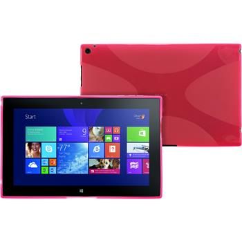 Silicone Case for Nokia Lumia 2520 X-Style hot pink