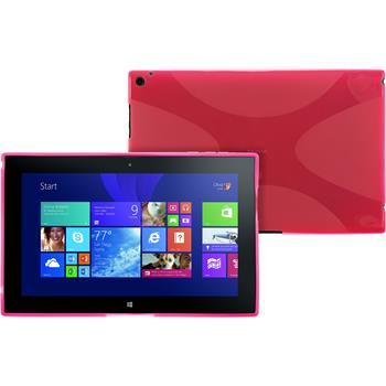 Silikon Hülle Lumia 2520 X-Style pink