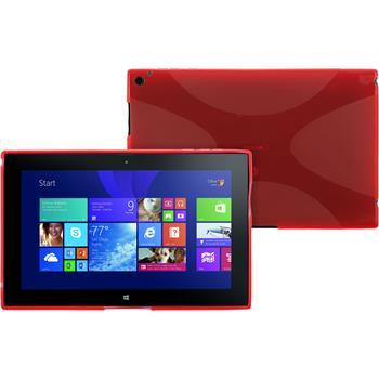 Silikon Hülle Lumia 2520 X-Style rot