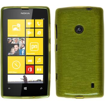 Silicone Case for Nokia Lumia 520 brushed pastel green