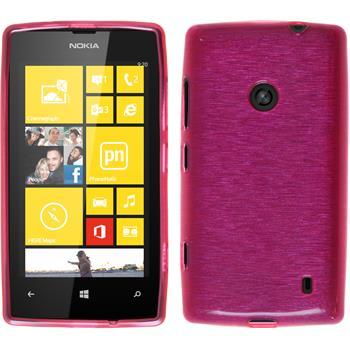 Silikon Hülle Lumia 520 brushed pink