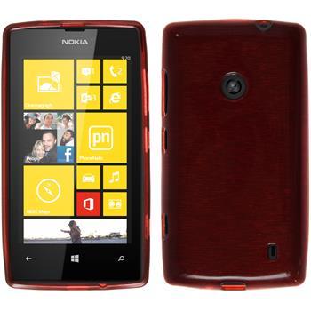 Silikon Hülle Lumia 520 brushed rot