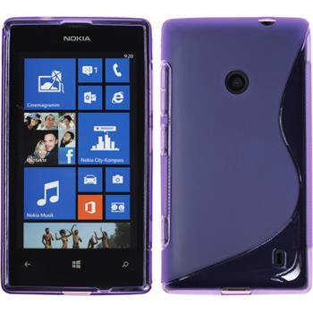 Silicone Case for Nokia Lumia 520 S-Style purple