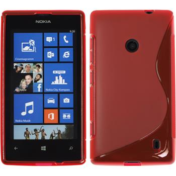 Silikonhülle für Nokia Lumia 520 S-Style rot