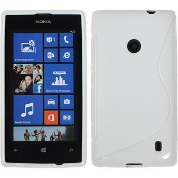 Silicone Case for Nokia Lumia 520 S-Style white