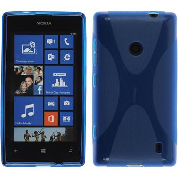 Silikon Hülle Lumia 520 X-Style blau