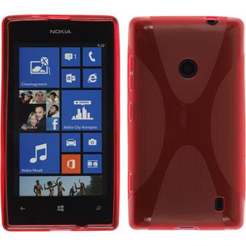 Silicone Case for Nokia Lumia 520 X-Style red