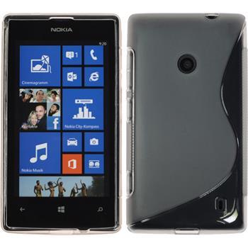 Silikon Hülle Lumia 525 S-Style grau