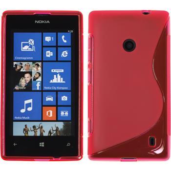 Silikonhülle für Nokia Lumia 525 S-Style pink