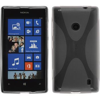 Silikonhülle für Nokia Lumia 525 X-Style grau
