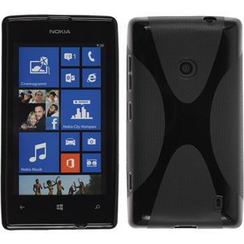 Silikon Hülle Lumia 525 X-Style schwarz
