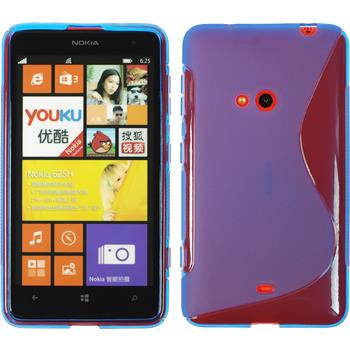 Silikon Hülle Lumia 625 S-Style blau