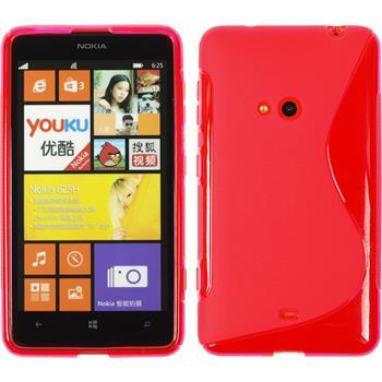 Silikon Hülle Lumia 625 S-Style pink